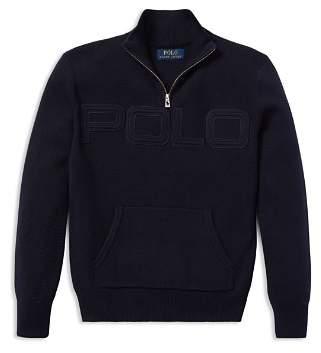 Ralph Lauren Boys' Cotton Half-Zip Sweater - Big Kid