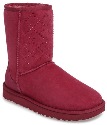UGG UGG Australia Classic Short - Crystal Genuine Shearling Lined Boot (Women)