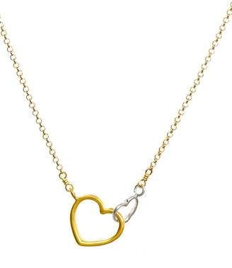 Dogeared Linked Heart Necklace, 18""