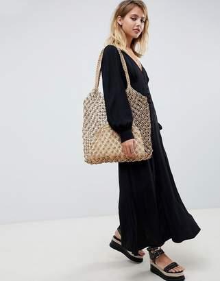 Asos Design DESIGN button through casual maxi dress with long sleeves