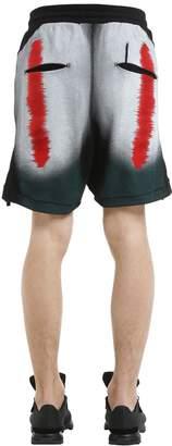 11 By Boris Bidjan Saberi Distortion Print Cotton Jersey Shorts