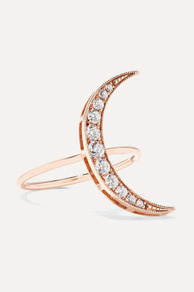 Andrea Fohrman Luna 18-karat Rose Gold Diamond Ring