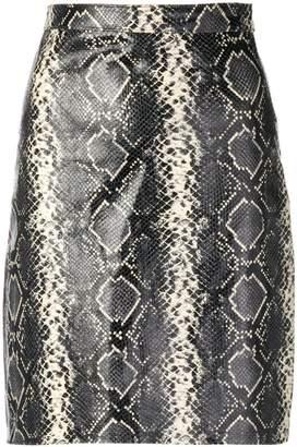 Manokhi snakeskin print midi skirt