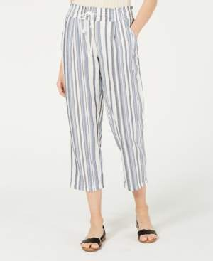 Almost Famous Juniors' Striped Cropped Pants