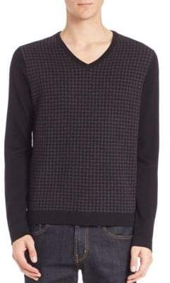 Saks Fifth Avenue Merino Wool Houndstooth Sweater