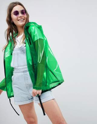Asos DESIGN Rain Jacket With Contrast Binding