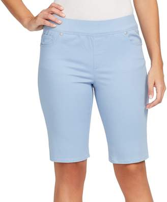 Gloria Vanderbilt Petite Avery Pull-On Bermuda Jean Shorts