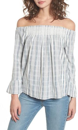 Women's Roxy Moon Sapphire Stripe Off The Shoulder Top