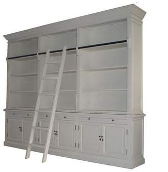 LIBRARY S & G Imports Antique White
