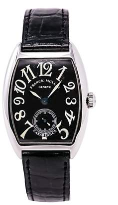 Franck Muller Casablanca 7502 S6 Stainless Steel & Leather Black Dial Manual 28mm Unisex Watch