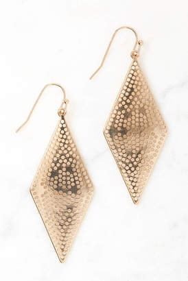 Perforated Diamond Shaped Drop Earrings