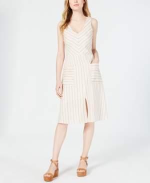 Monteau Petite Striped A-Line Dress