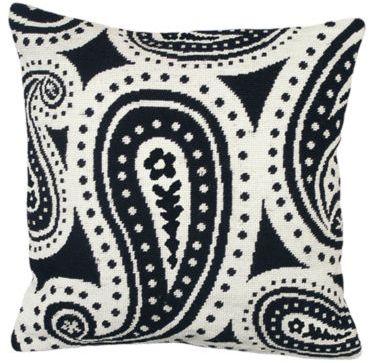 Paisley Needlepoint Pillow