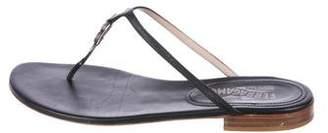 Salvatore Ferragamo Leather Round-Toe Sandals