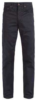 Rag & Bone Mid Rise Slim Leg Chino Trousers - Mens - Navy