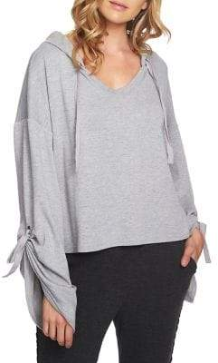 1 STATE 1.STATE Oversize Tie Sleeve Pullover