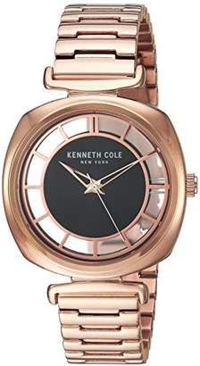 Kenneth Cole New York Women's 'Transparency' Quartz Brass-Plated and Stainless Steel Dress Watch
