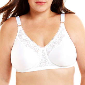 JCPenney Underscore Lace Trim Underwire Unlined Full Coverage Bra