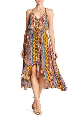 Band of Gypsies Geo Stripe High/Low Dress