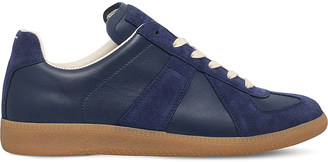 MAISON MARGIELA Replica leather low-top trainers $280 thestylecure.com