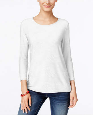 13b6fd796d1cd JM Collection White Petite Tops - ShopStyle