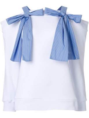 MSGM bow detail sweatshirt-style top
