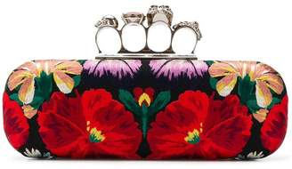 Alexander McQueen Jewelled Four Ring clutch