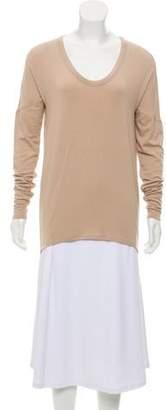 Helmut Lang Wool-Blend Long Sleeve Knit Top