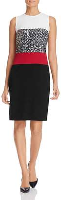 PAULE KA Color Block Sheath Dress $730 thestylecure.com