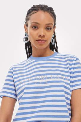 Topshop Tee & Cake New Orleans Striped T-Shirt by Tee Cake