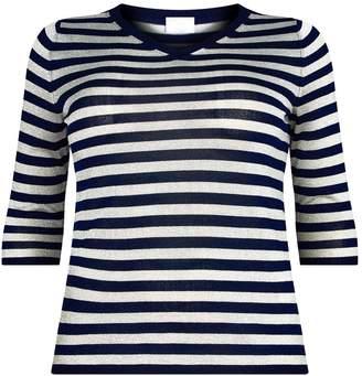 Marina Rinaldi Lurex Stripe Sweater
