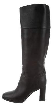 Ralph Lauren Purple Label Leather Knee-High Boots