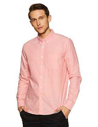 Casual Terrains Men's Tailored Slim-Fit Button-Down Collar Solid Oxford Shirt