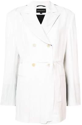 Ann Demeulemeester tie fastened tux jacket