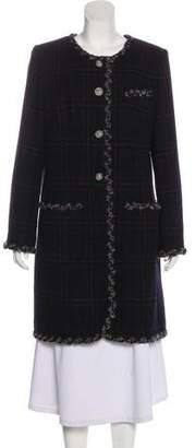 Chanel Paris-Edinburgh Plaid Wool-Blend Coat