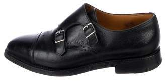 John Lobb Buffalo Leather Monk-Strap Dress Shoes