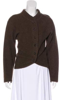 Issey Miyake Wool-Blend Button-Up Cardigan