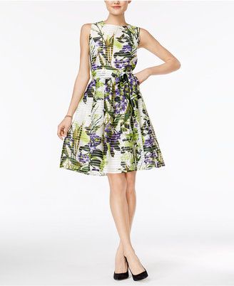 Tommy Hilfiger Floral-Print Fit & Flare Dress $134 thestylecure.com