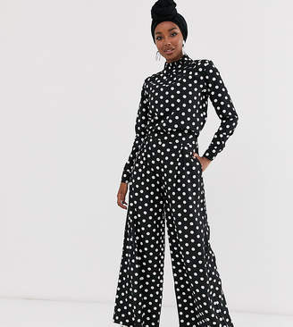 Verona wide leg pants in polka dot two-piece