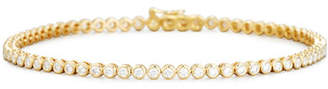 Memoire Diamond Bezel Line Bracelet in 18K Yellow Gold