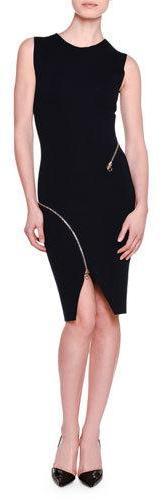 Stella McCartneyStella McCartney Strong Lines Zip-Detail Sheath Dress, Ink