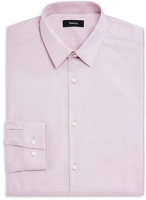 Theory Textured Solid Regular Fit Dress Shirt