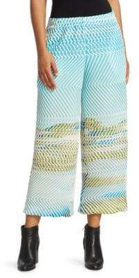 Issey Miyake Fuzzy Wide-Leg Pants