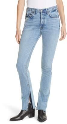GRLFRND Addison Split Hem Boot Leg Jeans