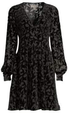 MICHAEL Michael Kors Embellished Burnout Dress