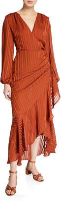 Astr Side-Cinched Mermaid Midi Dress