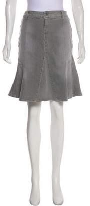 Paige Knee-Length Denim Skirt