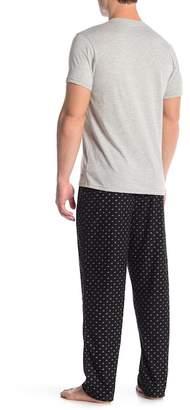 Calvin Klein Short Sleeve Tee & Pant PJ Set