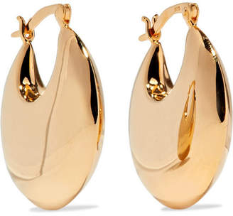 Sophie Buhai - Cowbell Gold Vermeil Hoop Earrings