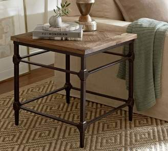 Pottery Barn Parquet Reclaimed Wood End Table